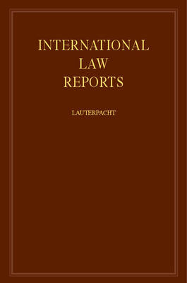 International Law Reports: v.20 - International Law Reports (Hardback)