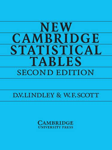 New Cambridge Statistical Tables (Paperback)