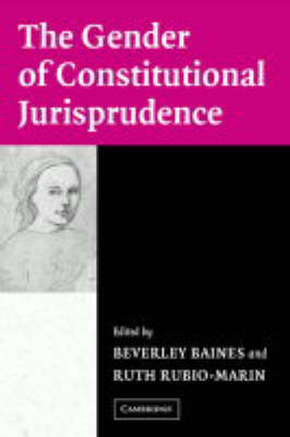 The Gender of Constitutional Jurisprudence (Paperback)