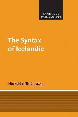 The Syntax of Icelandic - Cambridge Syntax Guides (Paperback)