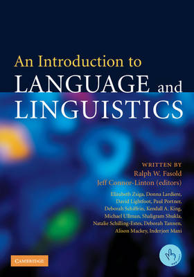 An Introduction to Language and Linguistics (Paperback)