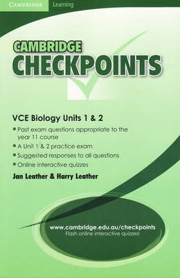 Cambridge Checkpoints VCE Biology Units 1and 2: Units 1&2 - Cambridge Checkpoints (Paperback)