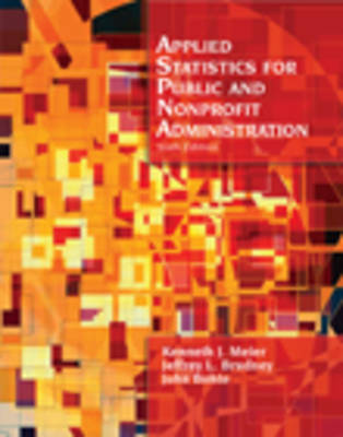 Applied Statistics for Public Administration (Paperback)