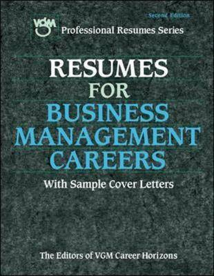 Resumes for Business Management Careers - Great Jobs For! Series (Paperback)