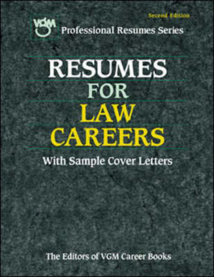 Resumes for Law Careers - VGM Professional Resumes S. (Paperback)