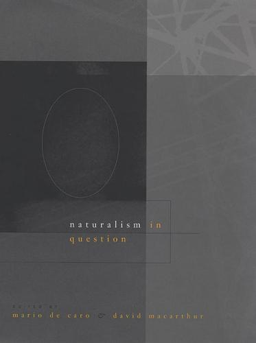 Naturalism in Question (Paperback)