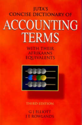 Juta's Concise Dictionary of Accounting Terms (Paperback)
