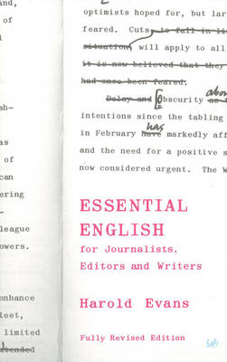 Essential English: For Journalists, Editors and Writers (Paperback)