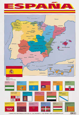Espana (map of Spain) (Poster)