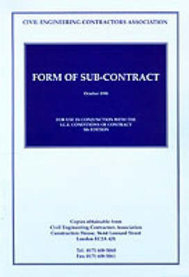 Ceca Form of Sub-contract: For Use with the ICE (Paperback)