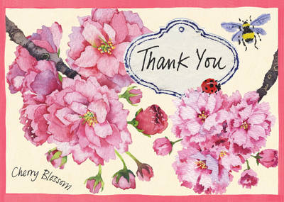 Cherry Blossom Garden Parcel Thank You Notes (Other printed item)