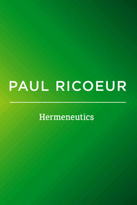 Hermeneutics: Writings and Lectures (Paperback)