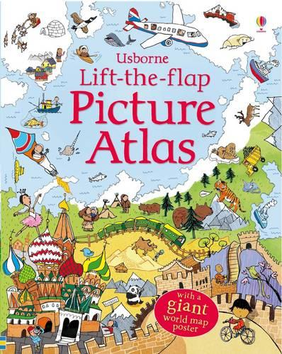 Lift-The-Flap Picture Atlas (Hardback)
