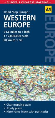 Western Europe: No. 1: AA Road Maps Europe (Sheet map, folded)