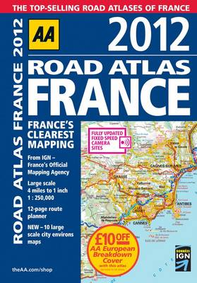 AA Road Atlas France 2012 (Spiral bound)