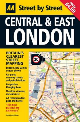 London Map Central and East - AA Street by Street (Sheet map, folded)