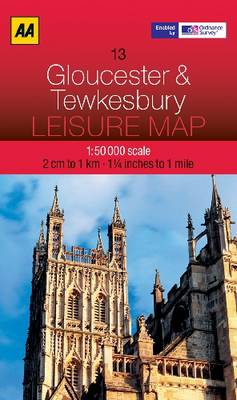 Gloucester and Tewkesbury - AA Leisure Maps 13 (Sheet map, folded)