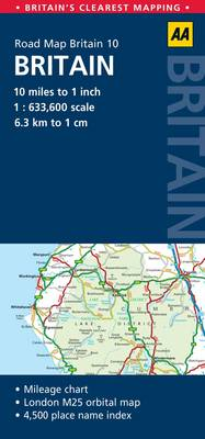 10. Britain: AA Road Map Britain (Sheet map, folded)