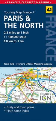7. Paris & the North: AA Road Map France (Sheet map, folded)