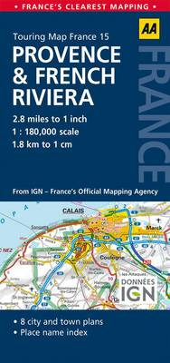 15. Provence & French Riviera: AA Road Map France (Sheet map, folded)