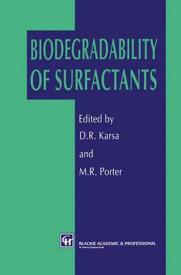 Biodegradability of Surfactants (Hardback)