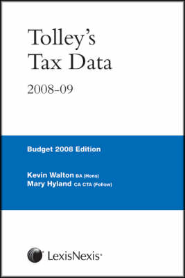 Tolley's Tax Data 2008-09 (Spiral bound)