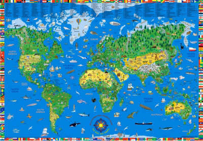 Illustrated Children's World Map - World Wall Maps S. No. 6 (Other cartographic)