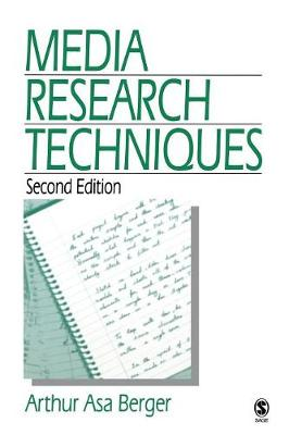 Media Research Techniques (Paperback)