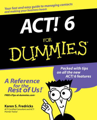 ACT! 6 For Dummies (Paperback)