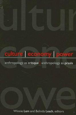 Culture, Economy, Power: Anthropology as Critique, Anthropology as Praxis - SUNY Series in Anthropological Studies of Contemporary Issues (Hardback)