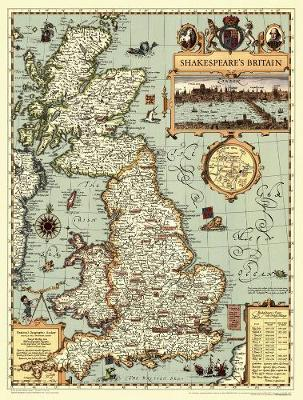 Shakespeare's Britain (Sheet map, rolled)