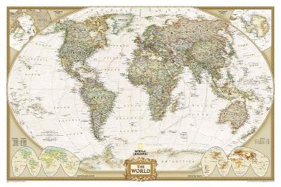The World: Laminated Executive Line - World Maps S. (Sheet map)