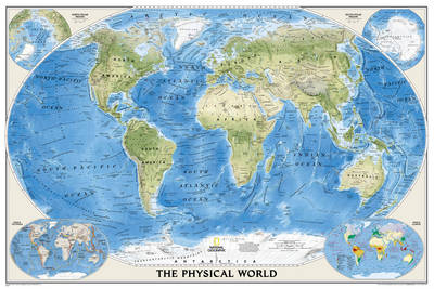 The World Physical, Enlarged Flat: Ocean Floor, Enlarged (Sheet map)