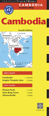 Cambodia Travel Map - Periplus Maps (Sheet map, folded)