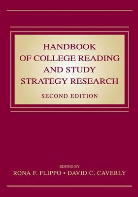 Handbook of College Reading and Study Strategy Research (Paperback)