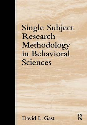 Single-Subject Research Methodology in Behavioral Sciences (Paperback)