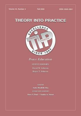 Peace Education: A Special Issue of Theory Into Practice (Paperback)