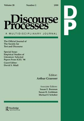 Empirical Studies of Literature: Selected Papers from IGEL '98. A Special Issue of Discourse Processes (Paperback)