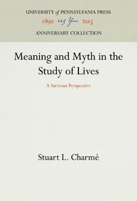 Meaning and Myth in the Study of Lives: A Sartrian Perspective (Hardback)
