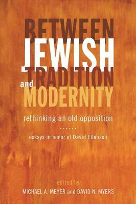 Between Jewish Tradition and Modernity: Rethinking an Old Opposition Essays in Honor of David Ellenson (Hardback)