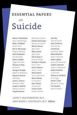 Essential Papers on Suicide - Essential Papers in Psychoanalysis (Paperback)