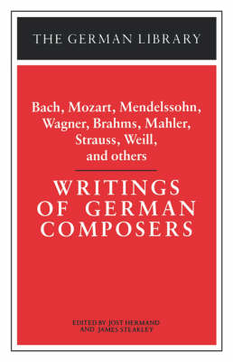 Writings of German Composers - German Library S. (Paperback)
