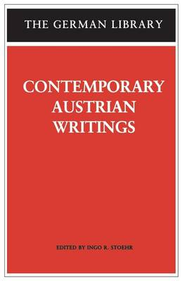 Contemporary Austrian Writings - German Library S. v. 74 (Paperback)