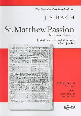 Cover J.S. Bach: St. Matthew Passion  (Paperback)