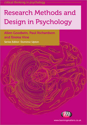 Research Methods and Design in Psychology - Critical Thinking in Psychology Series (Paperback)