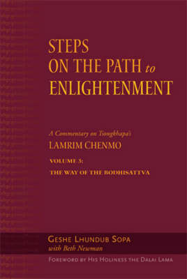 Steps to the Path of Enlightenment: v.3: The Bodhisattva's Way of Life (Hardback)