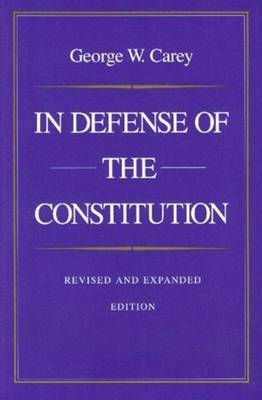 In Defense of the Constitution (Paperback)