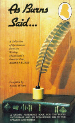 As Burns Said...: Poems (Paperback)