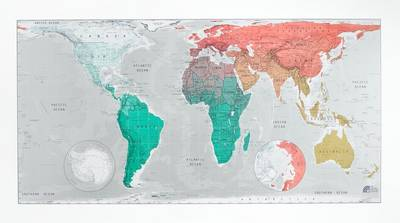 Future Map: World Wall Map - Magnetic Tubed Version 2: An Equal Area Projection (Sheet map, rolled)
