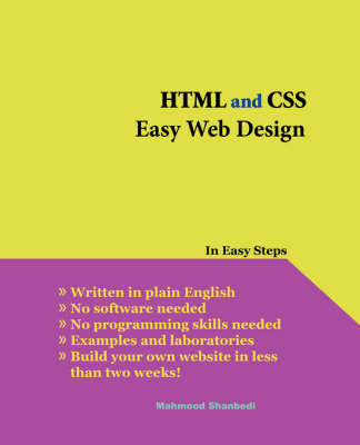 HTML and CSS Easy Web Design (Paperback)